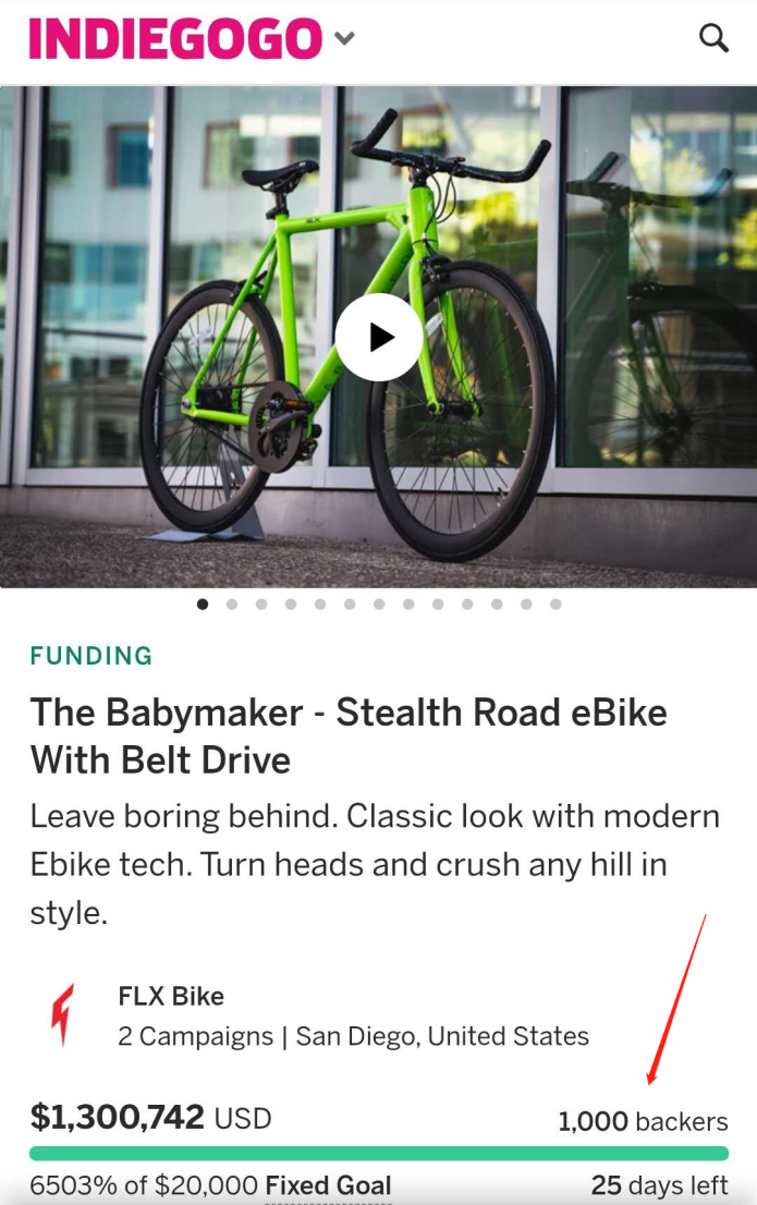 FLX Babymaker Hits 1000 Riders