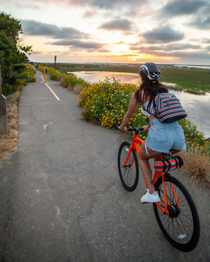 Vanessa Follador rides the FLX Babymaker Electric Road Bike