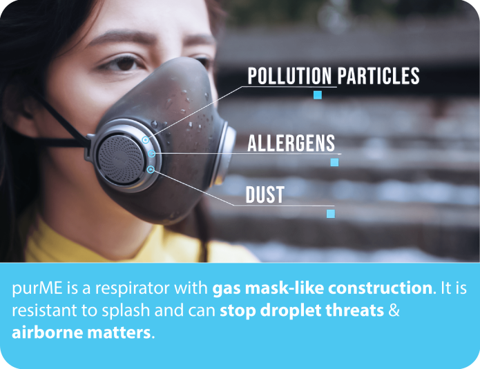 purME - Mặt nạ bảo vệ chống bụi mịn, hóa chất gây dị ứng và phấn hoa... hiệu quả nhất