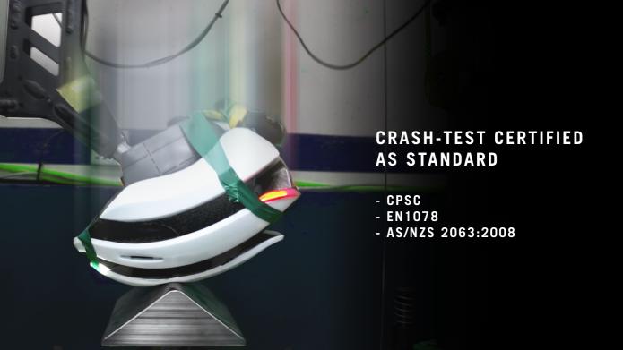 Crash test certified