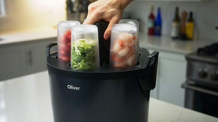 Oliver Automated Smart Cooking Robot Indiegogo