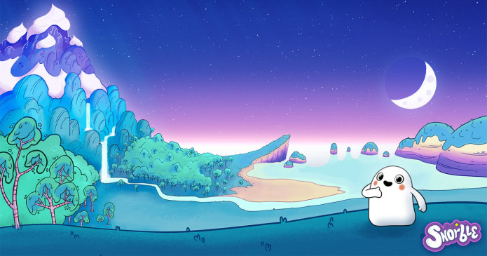 Image contains an illustration of Lullaboo, which has the Mazipan Mountains, the Shimmering Sandy Seashore, and more.