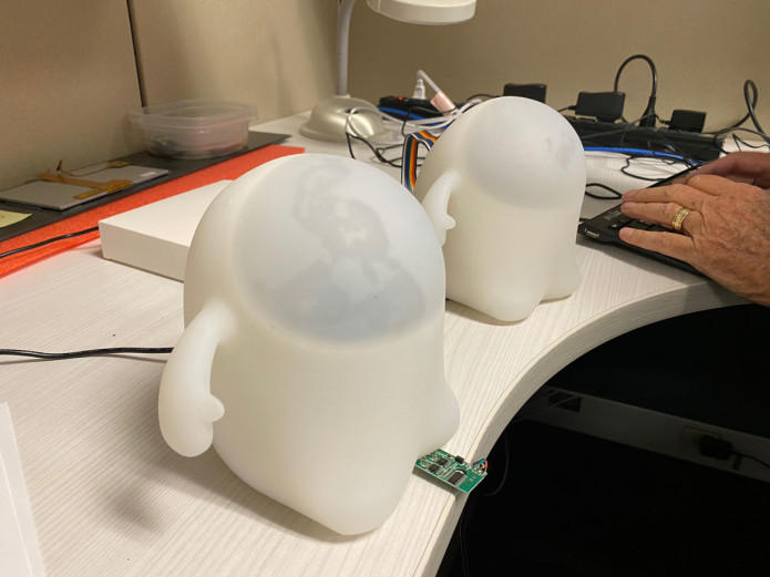 Snorble® being tested at an engineering lab.