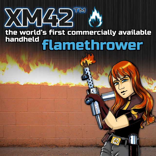 Track XM42: The Handheld Flamethrower's Indiegogo campaign