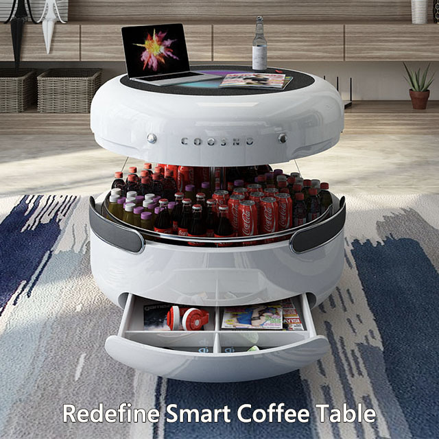 track coosno, the smart coffee table redefined's indiegogo