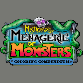 Mythzar's Menagerie of Monsters coloring book
