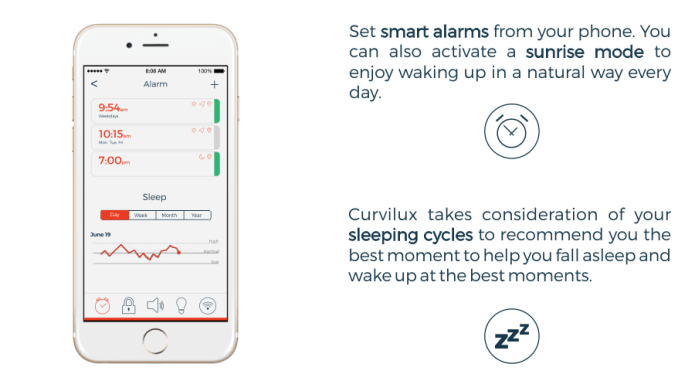 Curvilux The First Smart Nightstand Indiegogo