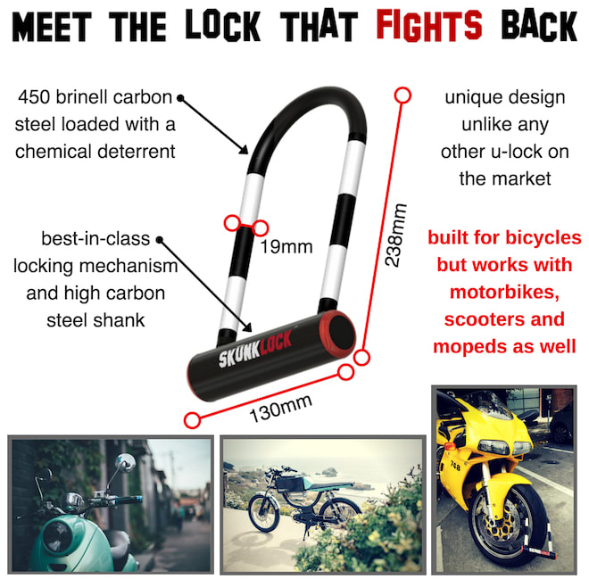 SKUNKLOCK: The only bike lock that Fights Back.   Indiegogo