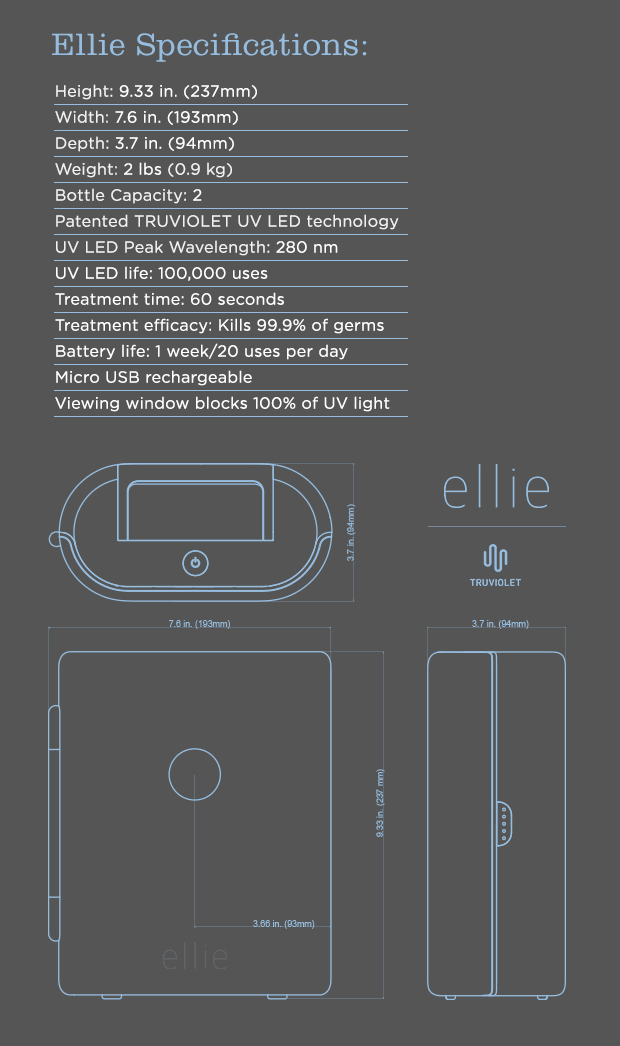 Ellie The First Ever Digital Uv Sterilizing Pod Indiegogo