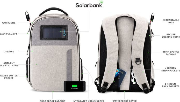 Lifepack Solar Powered Amp Anti Theft Backpack Indiegogo