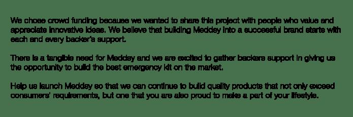 meddsy emergency kit for humans cars and gadgets indiegogo. Black Bedroom Furniture Sets. Home Design Ideas