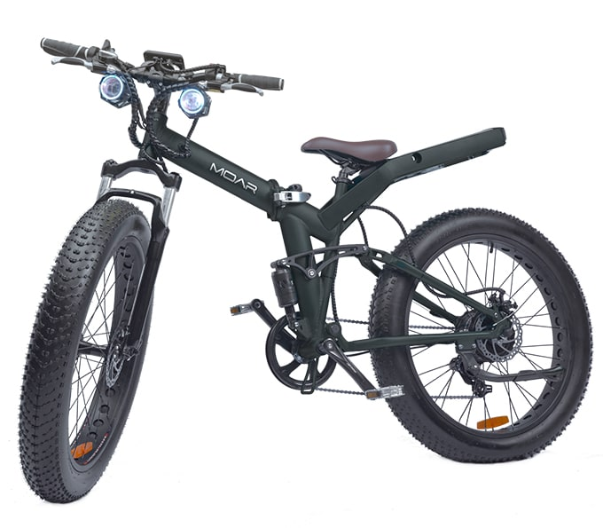 Moar Fat Tire Folding Frame Electric Bicycle Indiegogo