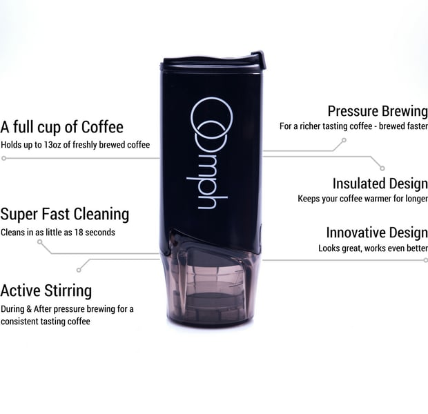 Oomph Portable Coffee Maker : Oomph - Portable Coffee Maker. Perfected. Indiegogo
