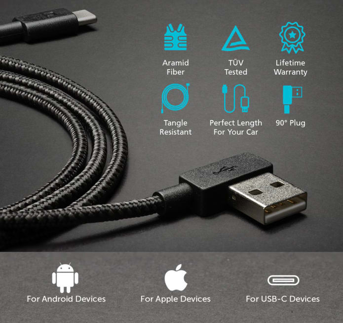 Zus Super Duty Charging Cable Lifetime Guarantee Indiegogo