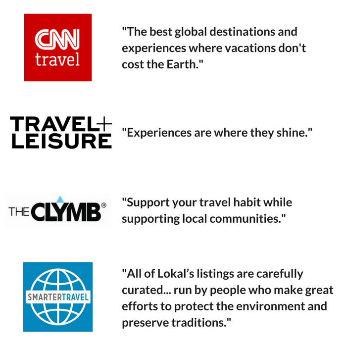 Lokal The Ultimate Sustainable Travel Sale Indiegogo - 5 of the worlds most fearless travel pioneers