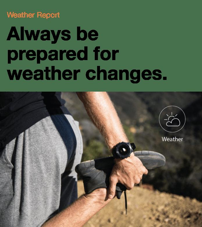 данные о погоде на ваших часах