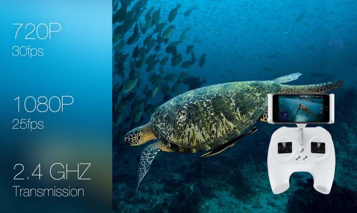 разрешение Камера для подводной съемки FIFISH P3-дрон